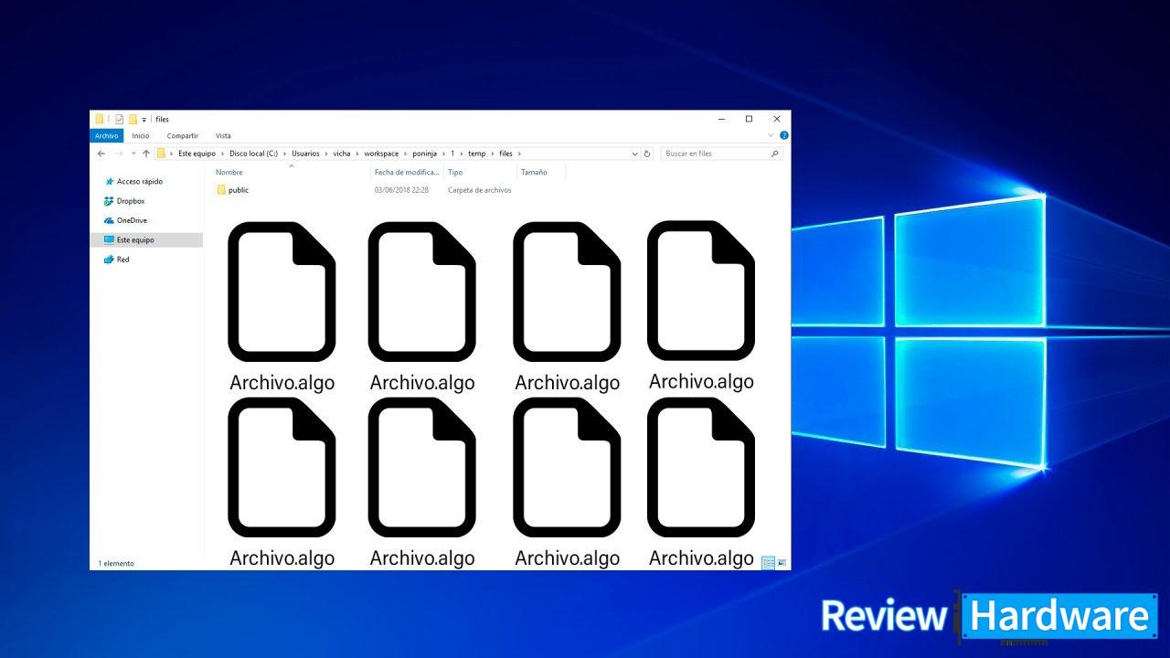 Cómo tener varios archivos con el mismo nombre en una carpeta de Windows 10