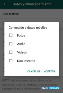 ahorrar datos en whatsapp