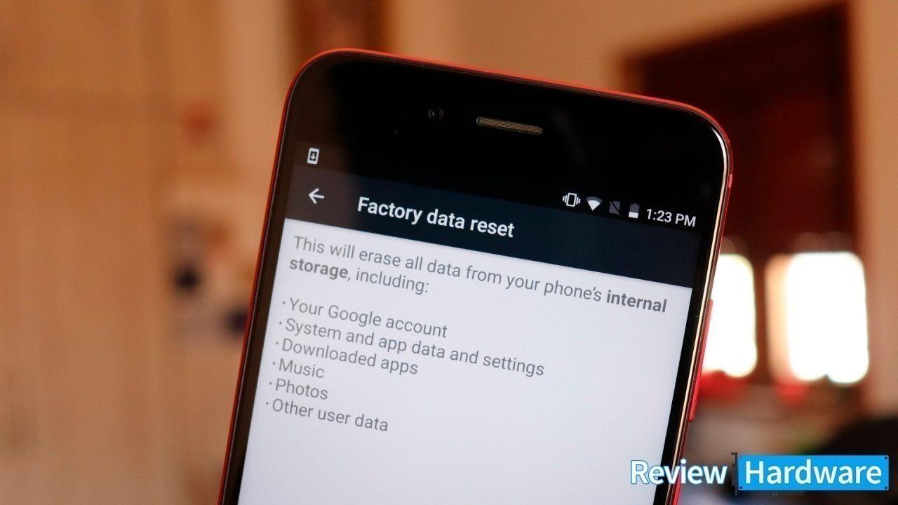 Qué tener en cuenta al hacer un reset de fábrica en android