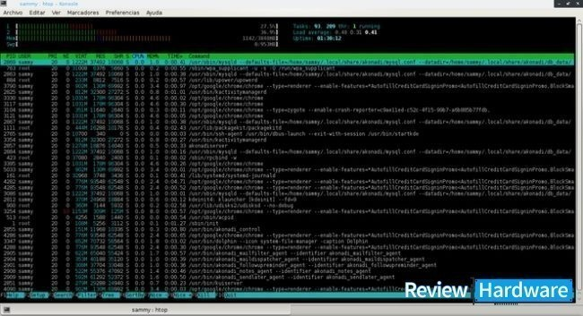 htop administrador de tareas para linux